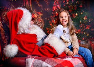 joy of meeting santa claus